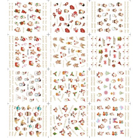 Flying Outlets Christmas Halloween Nail Sticker Lovely Flower Heart Cartoon Glitter Toe Wraps Decorations Decals - Halloween Toe Nail Ideas
