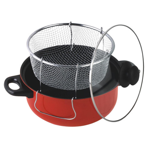 Gourmet Chef 4.3 Liter Nonstick Deep Fryer & Frying Basket