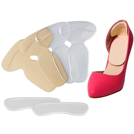 Yoassi 2 Pair of Heel Pads +1 Pair Shoes Back Pad, Grips Liners Back Heel Cushion Insoles for High Heels Blisters Shoe Gel Inserts Foot Care Shoe Pad ()