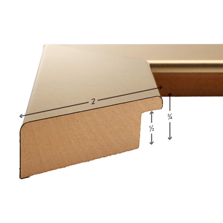 22x28 Inch Modern Brushed Gold Picture Frame Craig Frames Bauhaus 200 744462228