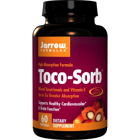 Jarrow Formulas Toco-Sorb, Supports Healthy Cardiovascular & Brain Function, 60 - Nutrients Brain Function