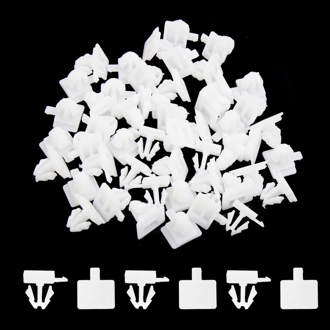 Rivet plastique Blanc Trou 11mm Clips retenue porte voiture 50 Pcs - image 1 de 2