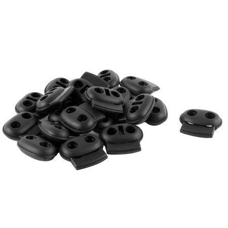 20PCS Plastic 5mm Dual Hole Spring Stopper Bean Cord Locks Ends - image 1 of 1