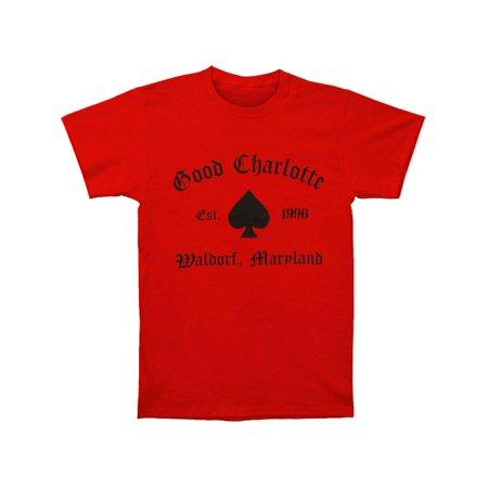 Good Charlotte Men's  GC Recreate 1 T-shirt Red Charlotte Ronson Clothing