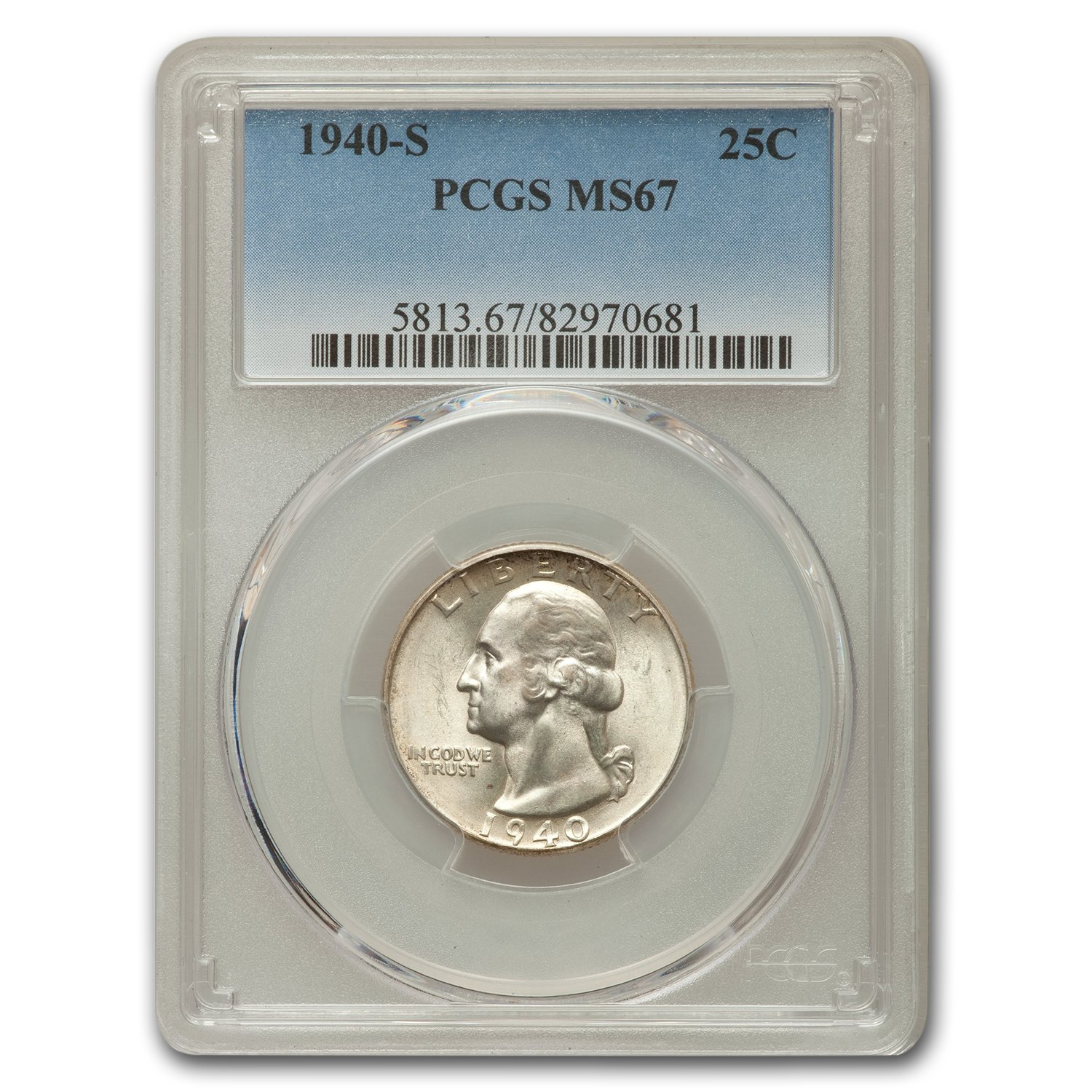 1940-S Washington Quarter MS-67 PCGS