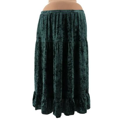 Velvet Tiered Skirt - Linea Louis Dell'Olio Crushed Velvet Tier Skirt A343559