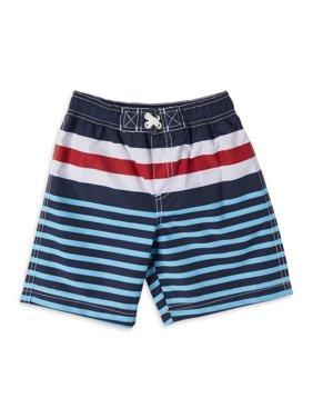 iXtreme Baby Toddler Boy Striped Swim Trunks