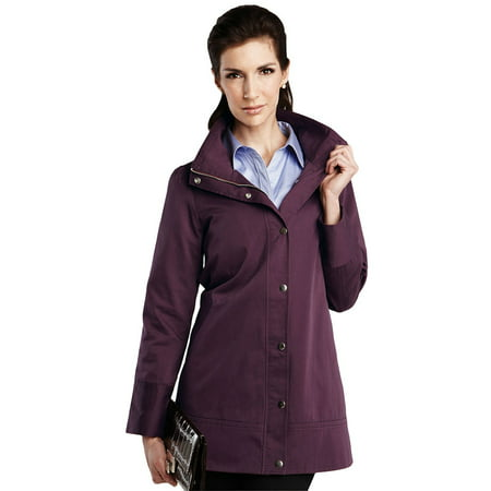 Tri-Mountain Women's Windproof Twill Trench Coat