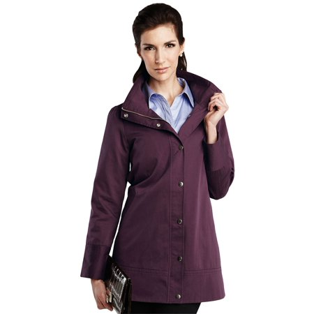Twill Letterman Jacket (Tri-Mountain Women's Windproof Twill Trench Coat)