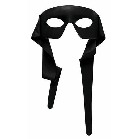 Zorro Bandit Black Ninja Turtles Eye Mask Masquerade Costume Superhero (Black Zorro Mask)