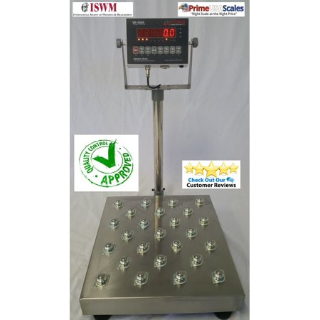 """Shipping Bench Scale Ball Roll Top Floor Scale 20"""" x 20"""" Platter 500 lb NTEP"""