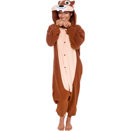 SILVER LILLY Unisex Adult Plush Chipmunk Animal Cosplay Costume Pajamas - Animal Onesie For Adults