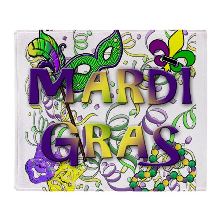 Light Up Mardi Gras Throws (CafePress - MARDI GRAS - Soft Fleece Throw Blanket, 50