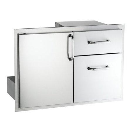 American Outdoor Grill Storage Door With Double Cabinet