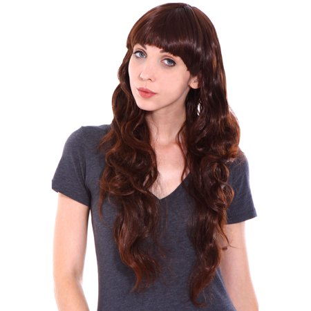 Women's Hair Wig New Fashion Long Wavy Curly Cosplay Costume Wig - Halloween Costumes Curly Hair