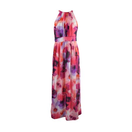 4f08218fc9e INC - Inc International Concepts Pink Multi Floral-Print Halter Maxi ...