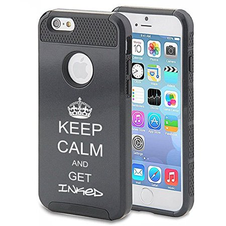 Apple iPhone 5c Shockproof Impact Hard Case Cover Get Inked Tattoo (Black),MIP ()