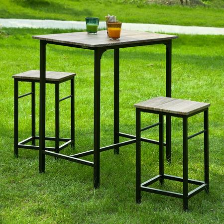 Haotian Sling High Bistro Set Home Kitchen Outdoor Garden Bar Patio Furniture