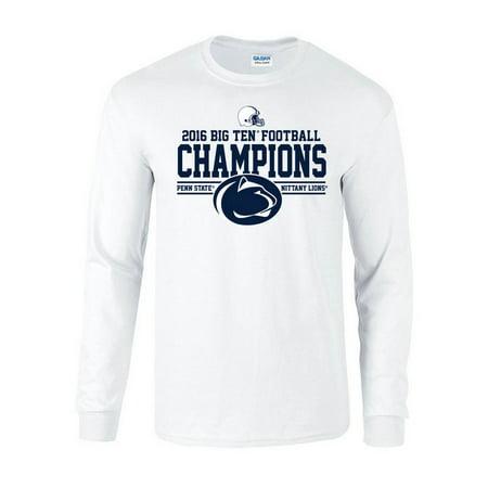 Penn State Football Big Ten Champs Long Sleeve Tshirt White 2016 L