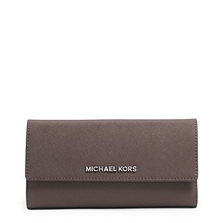 2a645c65c3f6ba Michael Kors Jet Set Travel Checkbook Wallet - Cinder - Leather -  Walmart.com