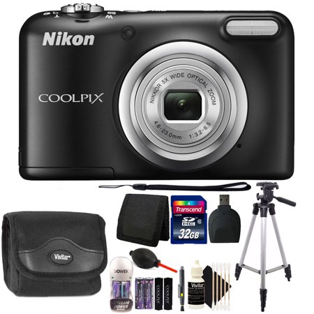 Nikon COOLPIX A10 16.1 MP Compact Digital Camera (Black) + 32GB Deluxe Winter (Chris Winter Best Cameras Under 1200)