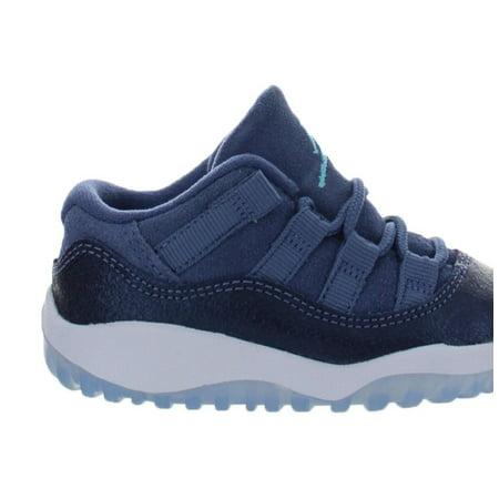 db1f9fb5ea23 Nike - Kids Air Jordan Retro 11 XI Low TD Blue Moon Midnight Navy White  64510 - Walmart.com