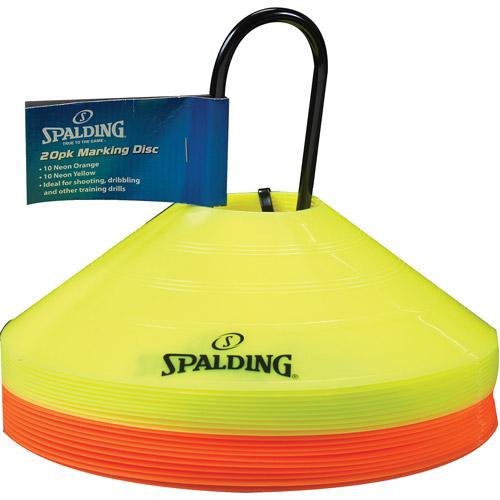 Spalding Flat Cones, Orange/Yellow, 20-Pack
