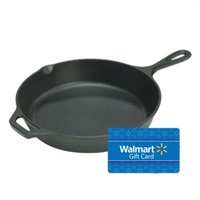 Lodge L8SK3 Pre-Seasoned 10.25″ Cast Iron Skillet with Assist Handle