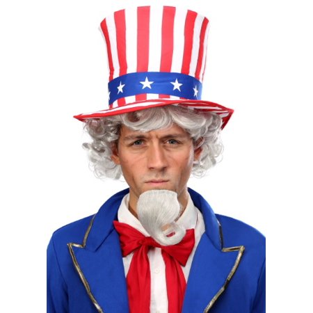 Uncle Sam Wig and Beard Kit