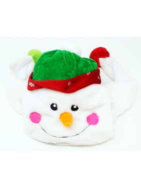 Plush Snowman Hat Christmas Winter Novelty Cap Beanie Costume Accessory (Open Box)