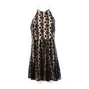 Jessica Simpson NEW Black Pink Women's 12 Crochet Halter Sheath Dress