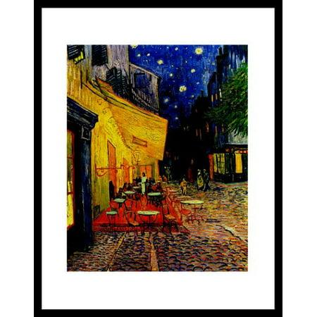 buyartforless FRAMED Vincent van Gogh pavement Cafe art print poster ...