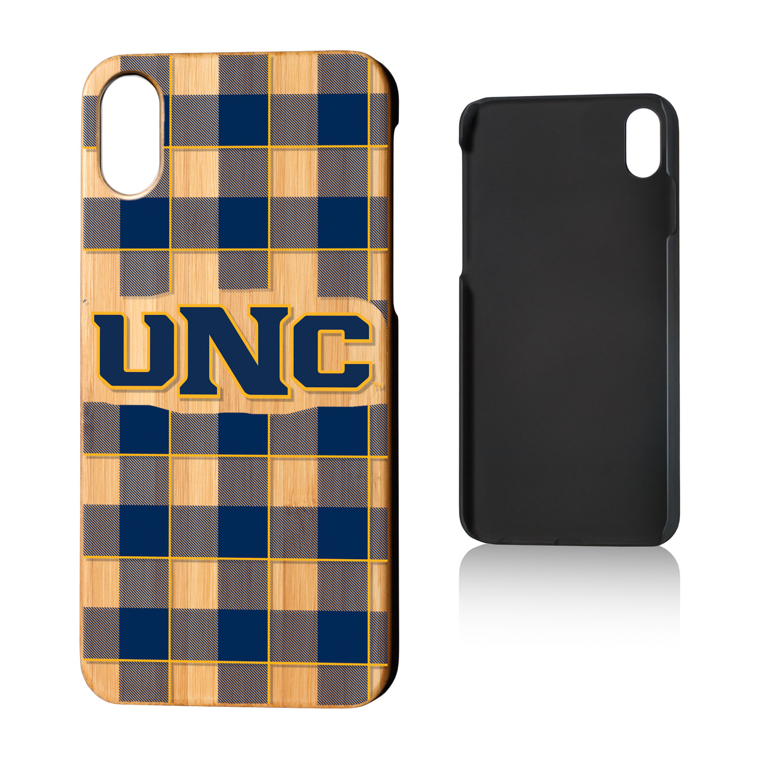 UNC Northern Colorado Bears Plaid Bamboo Case for iPhone X