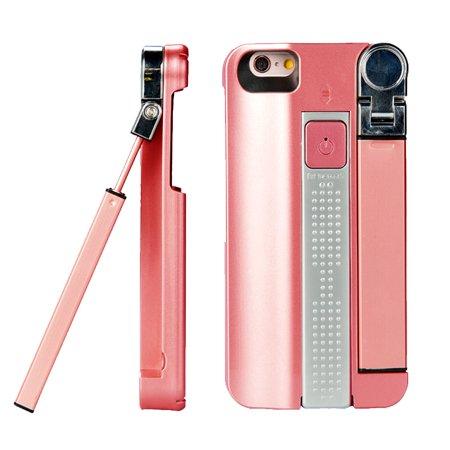 indigi great gift 3 in 1 premium selfie stick protective case for iphone 7 rose gold. Black Bedroom Furniture Sets. Home Design Ideas