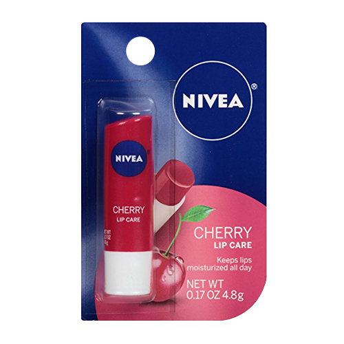 Nivea A Kiss Of Cherry, Fruity Lip Care, Shea Butter And Cherry Extract - 0.17 Oz, 2 Pack