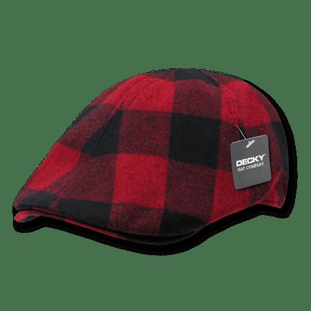 DECKY Plaid Ivy Drivers Newsboy Gatsby Golf Hats Hat Cap For Men Women Red - Great Gatsby Attire For Women