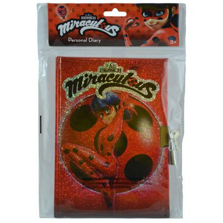 Miraculous Ladybug 50 Sheets Foil Stamp Diary in Poly Bag with (Foil Stamp Folders)