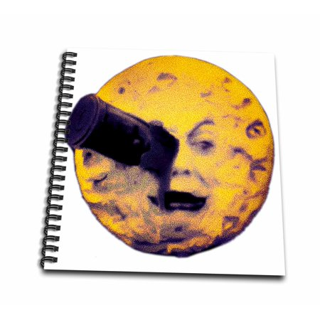3dRose A Trip to the Moon Happy Halloween Edition Vintage Sci Fi - Mini Notepad, 4 by 4-inch (Sci Fi Halloween)
