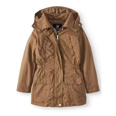 Cotton Anorak Jacket with Pockets (Little Girls & Big Girls) (Womens Pea Coat Tan)