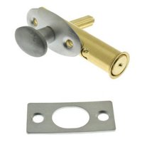 Solid Brass Mortise Door Bolt, Satin Chrome