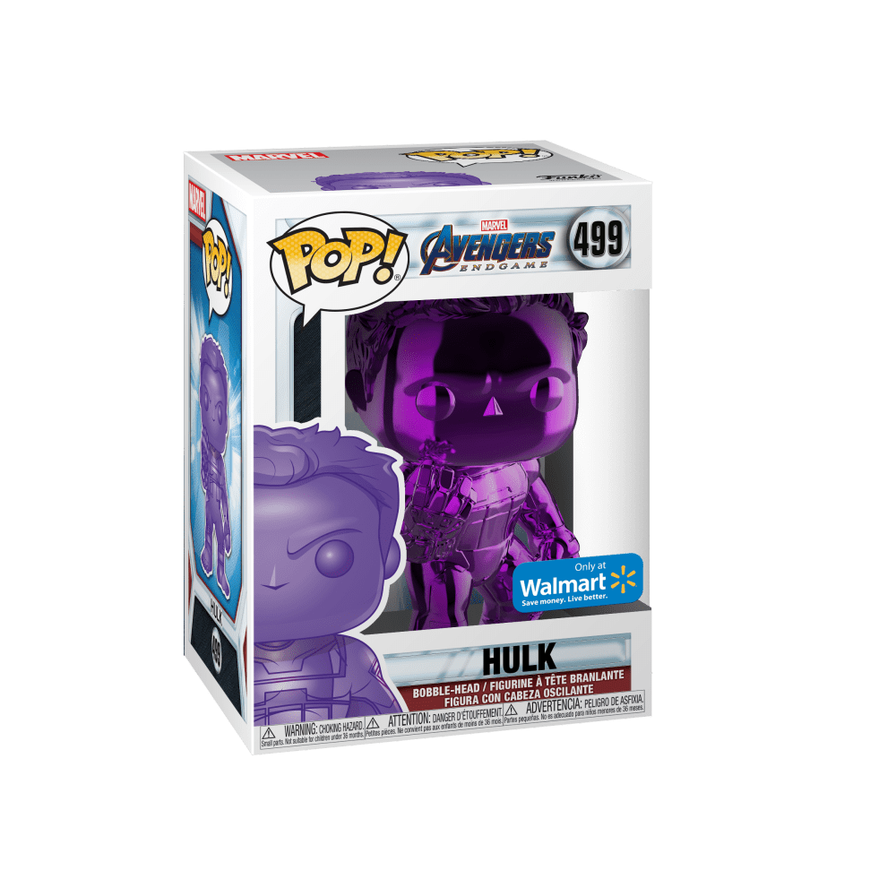 Funko POP! Marvel: Avengers Endgame - W2 - Hulk (Purple Chrome) (Walmart Exclusive)
