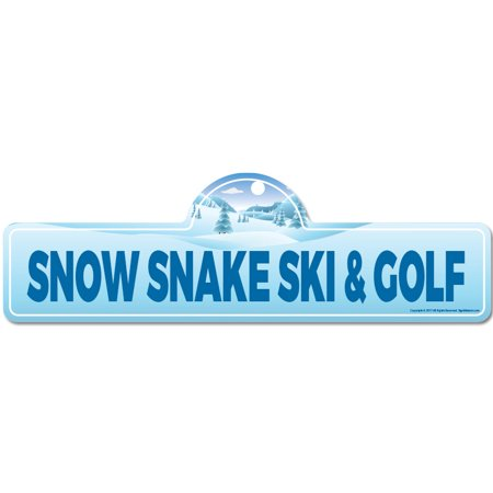 - Snow Snake Ski & Golf Street Sign | Indoor/Outdoor | Skiing, Skier, Snowboarder, Décor for Ski Lodge, Cabin, Mountian House | SignMission personalized gift