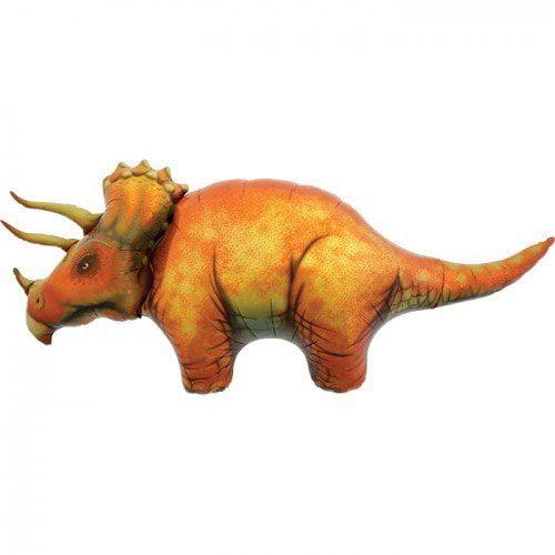 Dinosaur Mylar Balloon - Triceratops Balloon - 50 inches