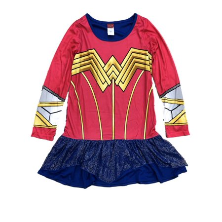 DC Comics Girls Silky Wonder Woman Nightgown Superhero Night Gown - Superhero Nightgown