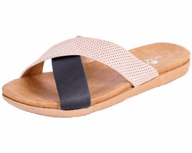 Nomad Crete Slide Sandal Black Beige by Nomad