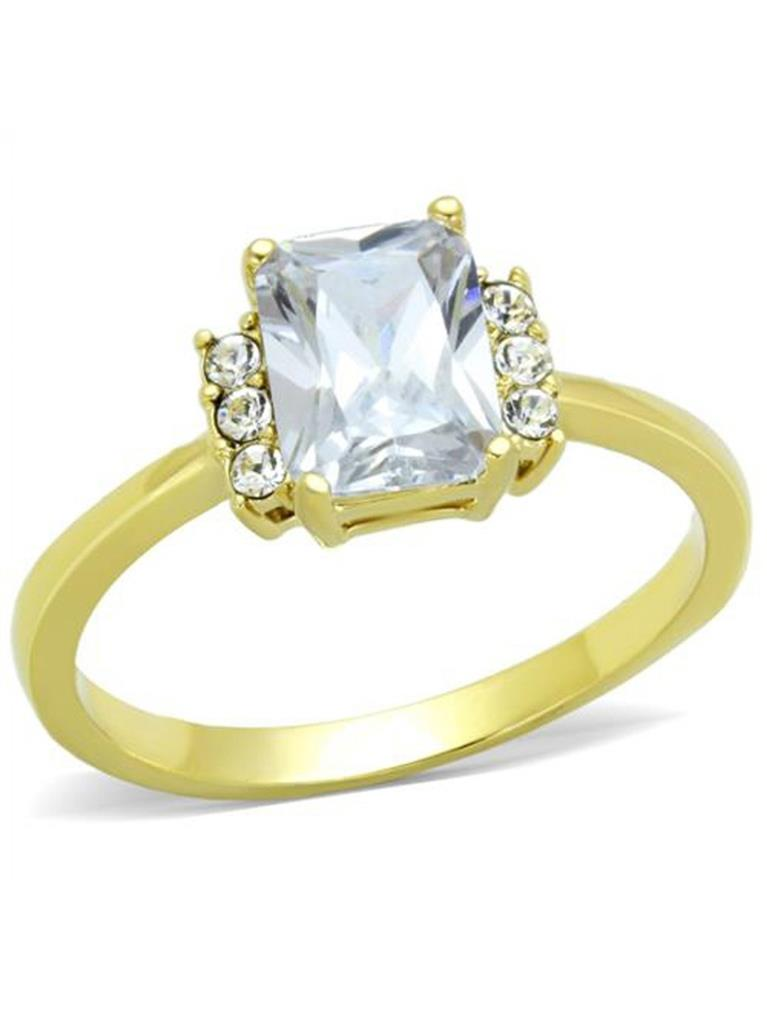 Details about  /Women 14K Yellow Gold Wedding Ring Princess Cut CZ Solitaire Engagement Ring