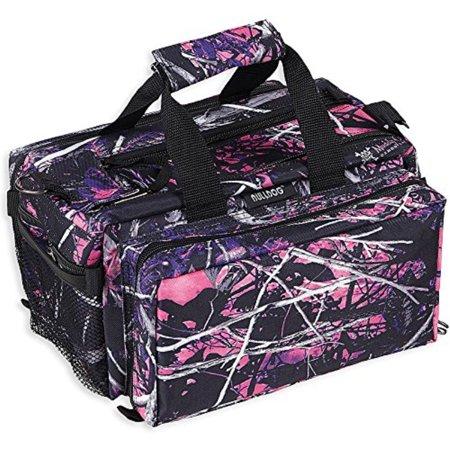 bulldog cases deluxe muddy girl range bag with strap, camo/black (Muddy Girl Camo Wrist Strap)