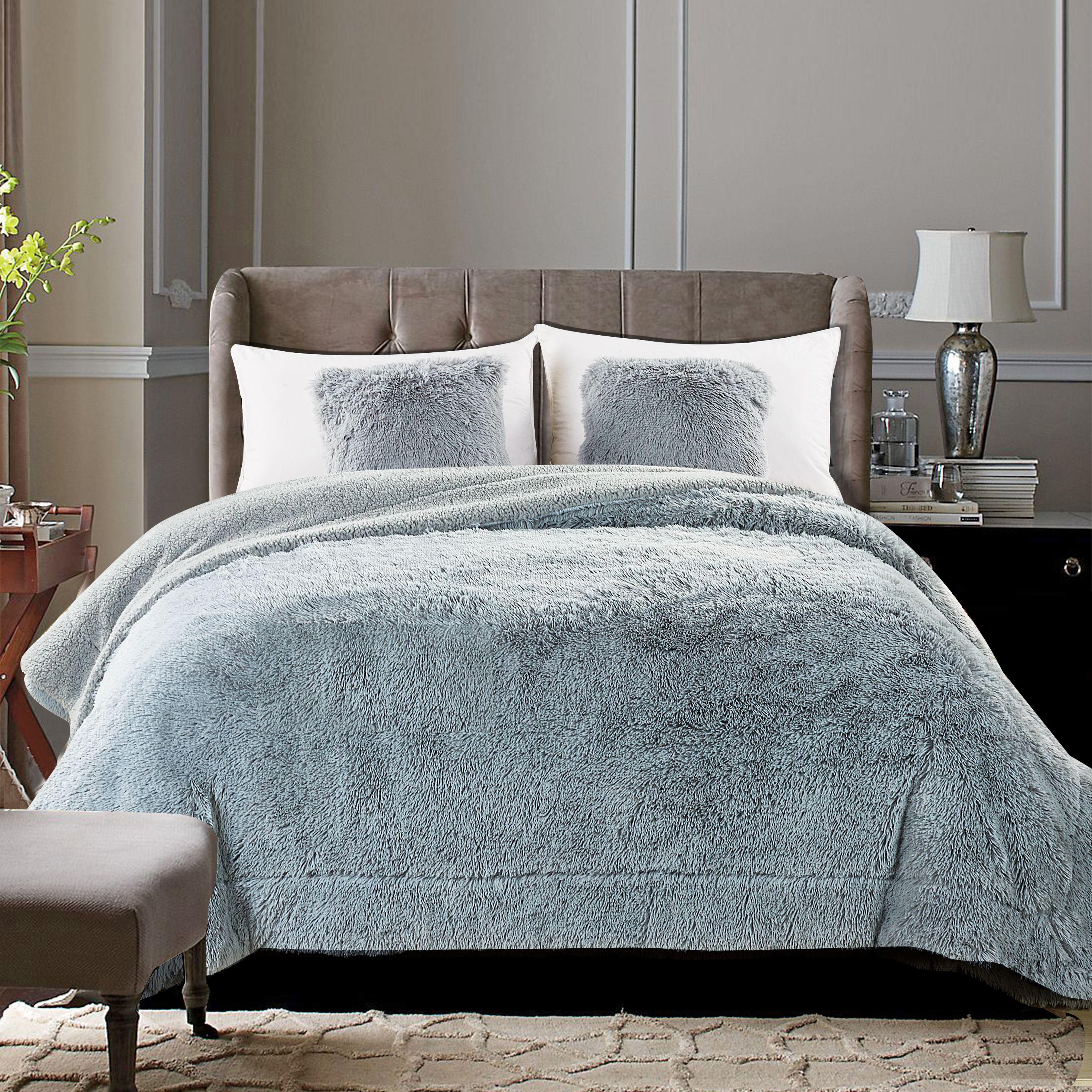 "Chanasya Super Soft Shaggy Longfur Throw Blanket   Snuggly Fuzzy Faux Fur Lightweight Warm Elegant Cozy Plush Sherpa Microfiber Blanket   For Couch Bed Chair Photo Props -50 ""x 65""- Purple Aubergine"
