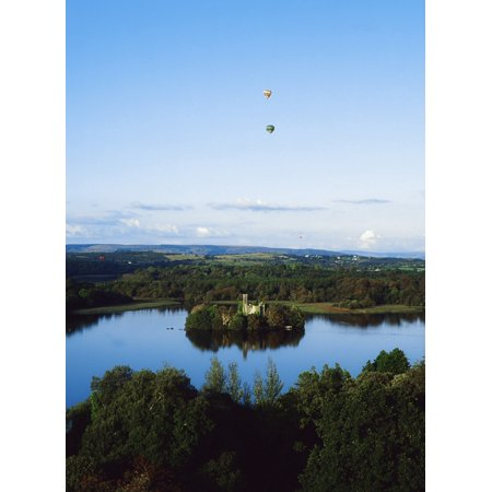 Castle Island Lough Key Forest Park Boyle Co Roscommon Ireland Historical Property First Noted In The 12Th Century Canvas Art   The Irish Image Collection  Design Pics  24 X 34