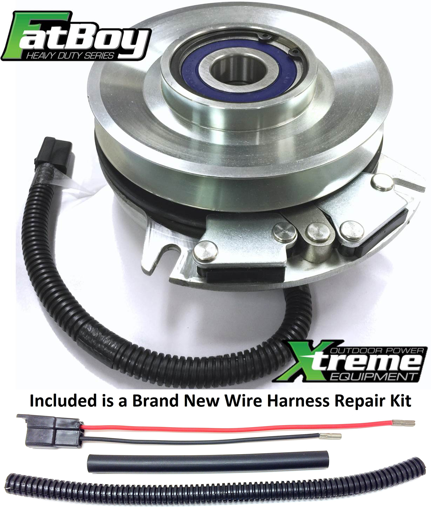 Bundle 2 Items Pto Electric Blade Clutch Wire Harness Repair Kit Engine Wiring Replaces Warner 5218 165 Fatboy W